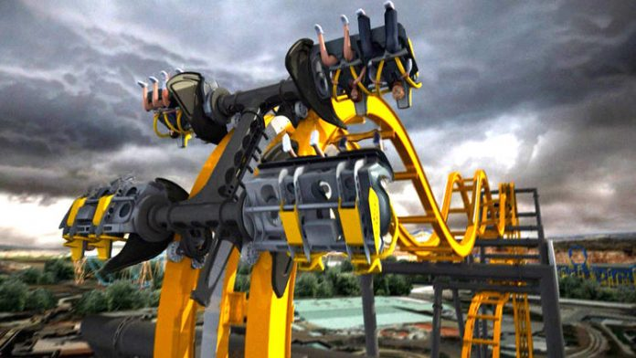 batman the ride 4d roller coaster