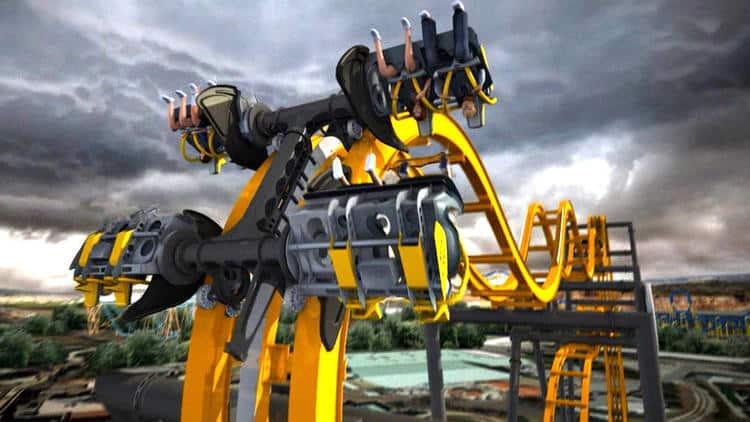 Batman The Ride 4D Roller Coaster Construction Tour at Six Flags Fiesta Texas