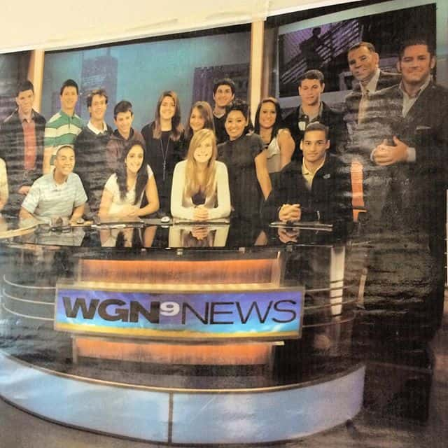 FLASHBACK PHOTO: Niles West High School students at WGN Morning News
