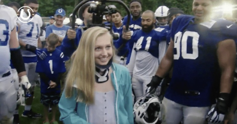 Indianapolis Colts honor school shooting survivor Ella Whistler at training camp