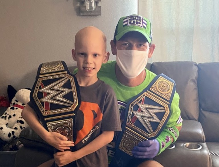 John Cena visits home of 7 year-old battling life threatening illness