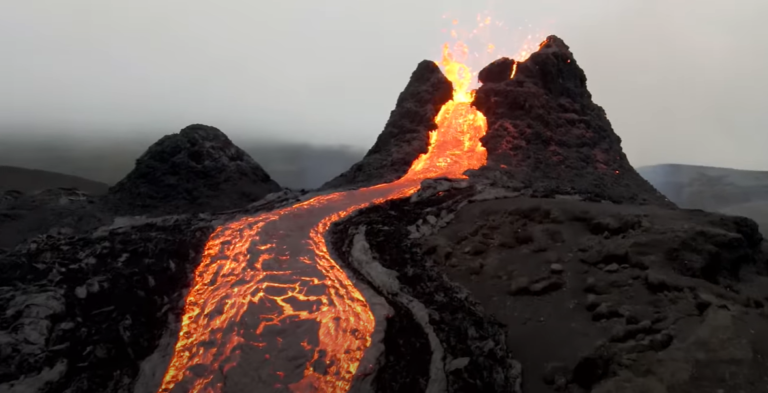 Watch these incredible volcano drone videos from Iceland